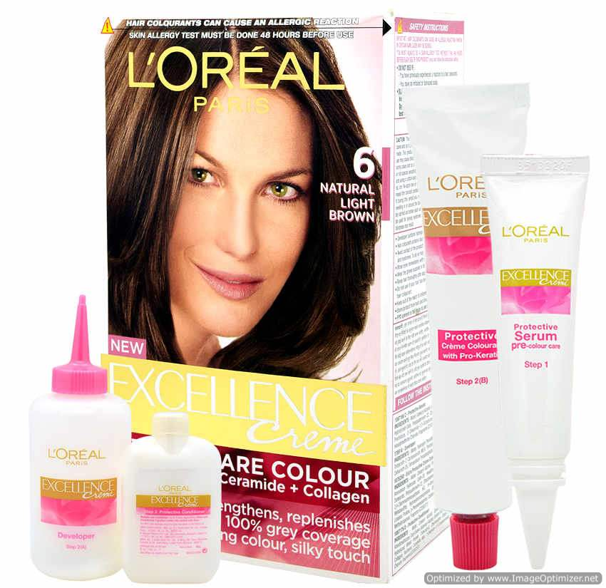 Buy Loreal Paris Excellence Creme 6 Natural Light Brown Online