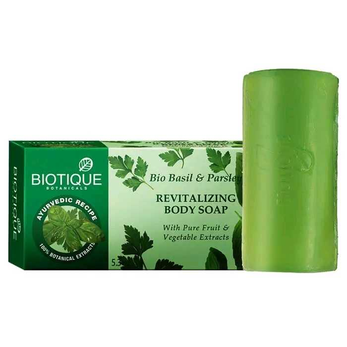Buy Biotique Basil And Parsley Revitalizing Body Soap Online MY