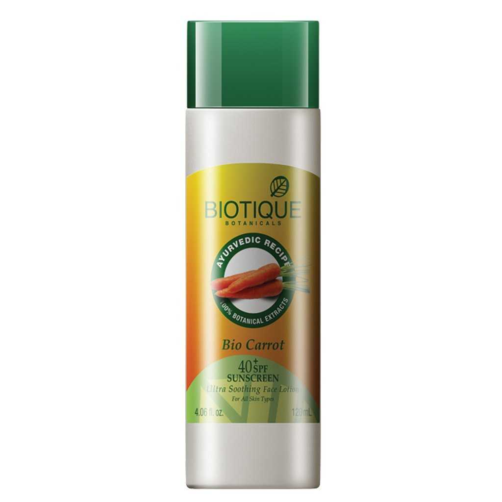 Buy Biotique Bio Carrot Face & Body Sun Cream Online FR