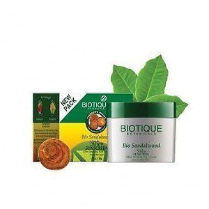 Buy Botique Bio Sandalwood 50+ Spf Sunscreen Ultra Soothing Face Cream Online FR