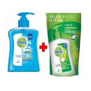 Buy Dettol Cool Ph-Balanced Handwash + Original Liquid Handwash Pouch Online FR