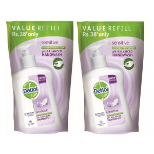 Buy Dettol Liquid Soap Sensitive Refill Pouch ( Pack Of 2 ) Online FR
