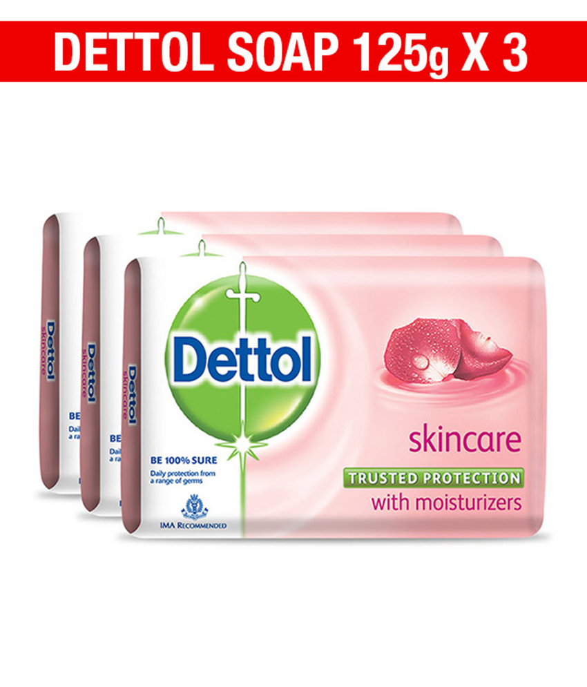 Buy Dettol Skincare Soap Pack of 3 Online FR