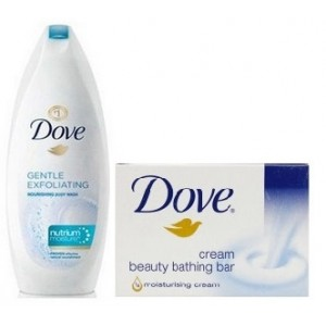 Buy Dove Gentle Exfoliating Nourishing Body Wash Free Cream Beauty Bar Loofah Online FR