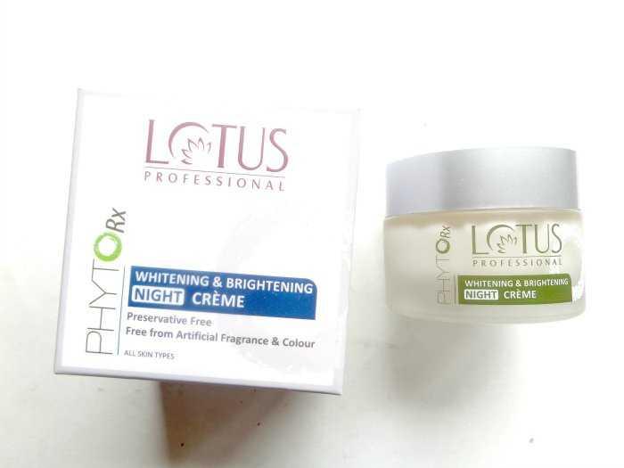 Buy Lotus Herbals Phyto-Rx Whitening & Brightening Night Cream Online FR