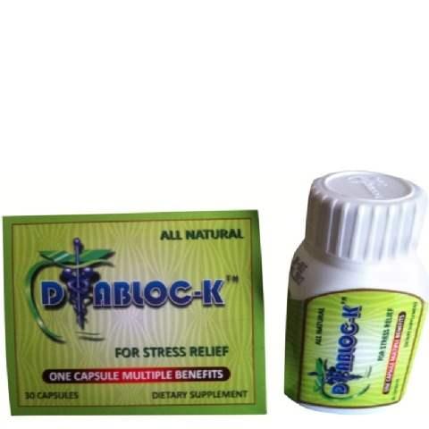 Buy DIABLOC-K Plus Natural Food Supplement Stress Relief capsules Online FR