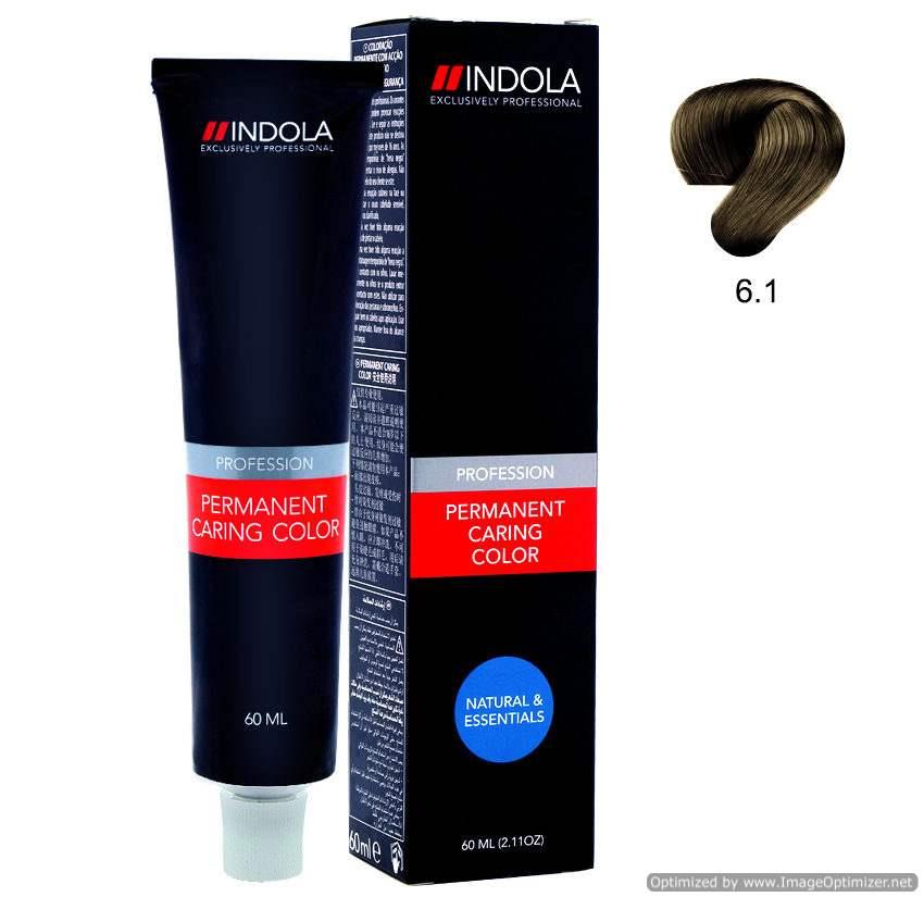 Buy Indola Profession Permanent Caring Color Dark Blonde Ash 6.1 Online MY