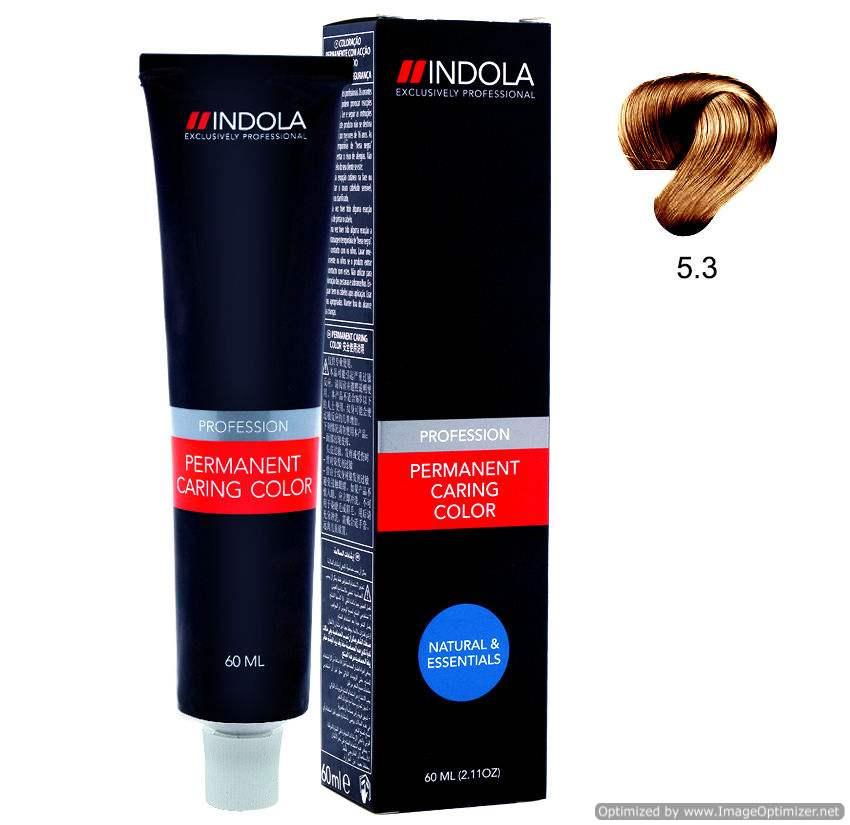 Buy Indola Profession Permanent Caring Color Light Brown Gold 5.3 Online FR