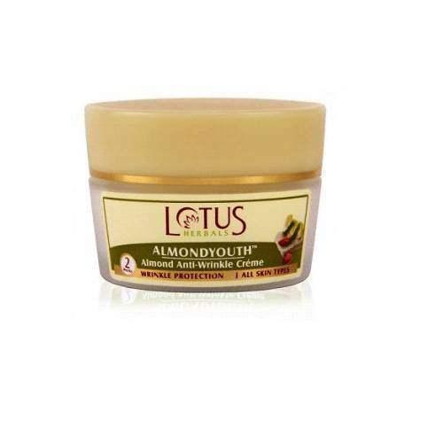 Buy Lotus Herbals Almond Anti Wrinkle Cream Online FR