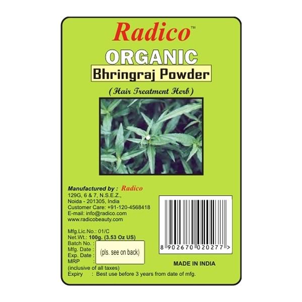 Buy Radico Organic Bhringraj Powder - 100 gm Online MY