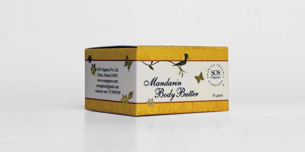 Buy SOS Organics Mandarin Body Butter lotion Online FR