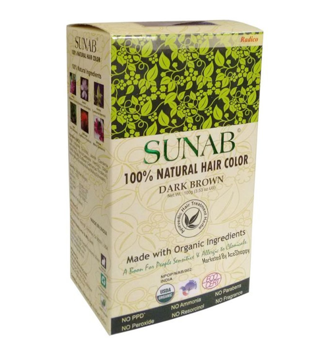Buy Radico 100 Natural Hair Color Sunab Brown Online MY