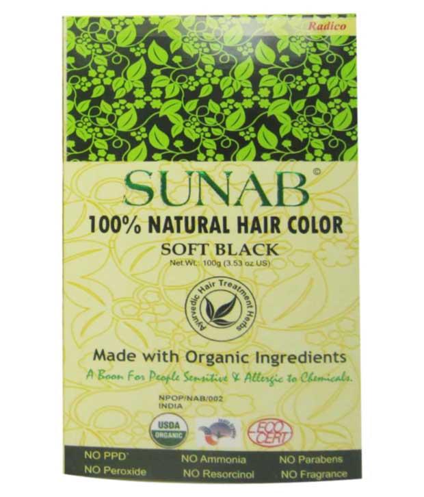 Buy Radico 100 Natural Hair Color Sunab Soft Black Online FR