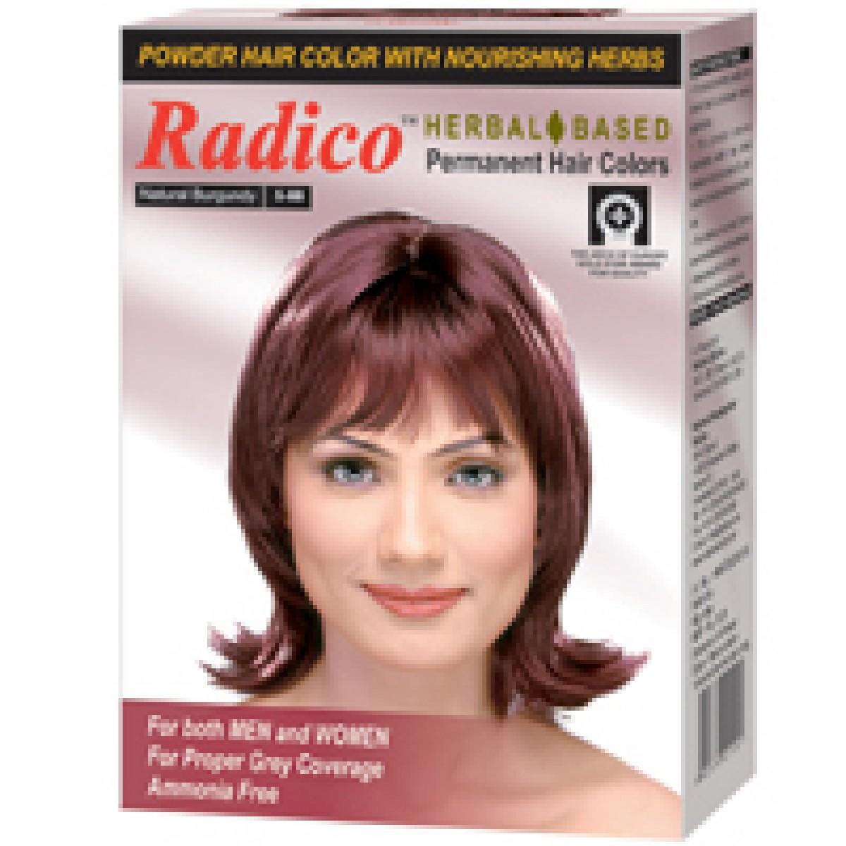 Buy Radico Herbal Hair Color Powder Burgundy Online FR