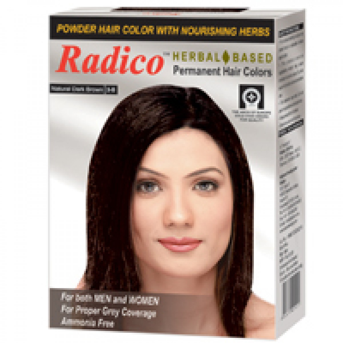 Buy Radico Herbal Hair Color Powder Dark Brown Online FR