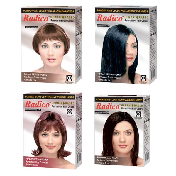 Buy Radico Herbal Hair Color Powder Natural Black Online FR