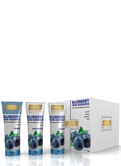 Buy Richfeel Blueberry Skin Radiance Kit Cleanser Toner & Moistriser Online MY