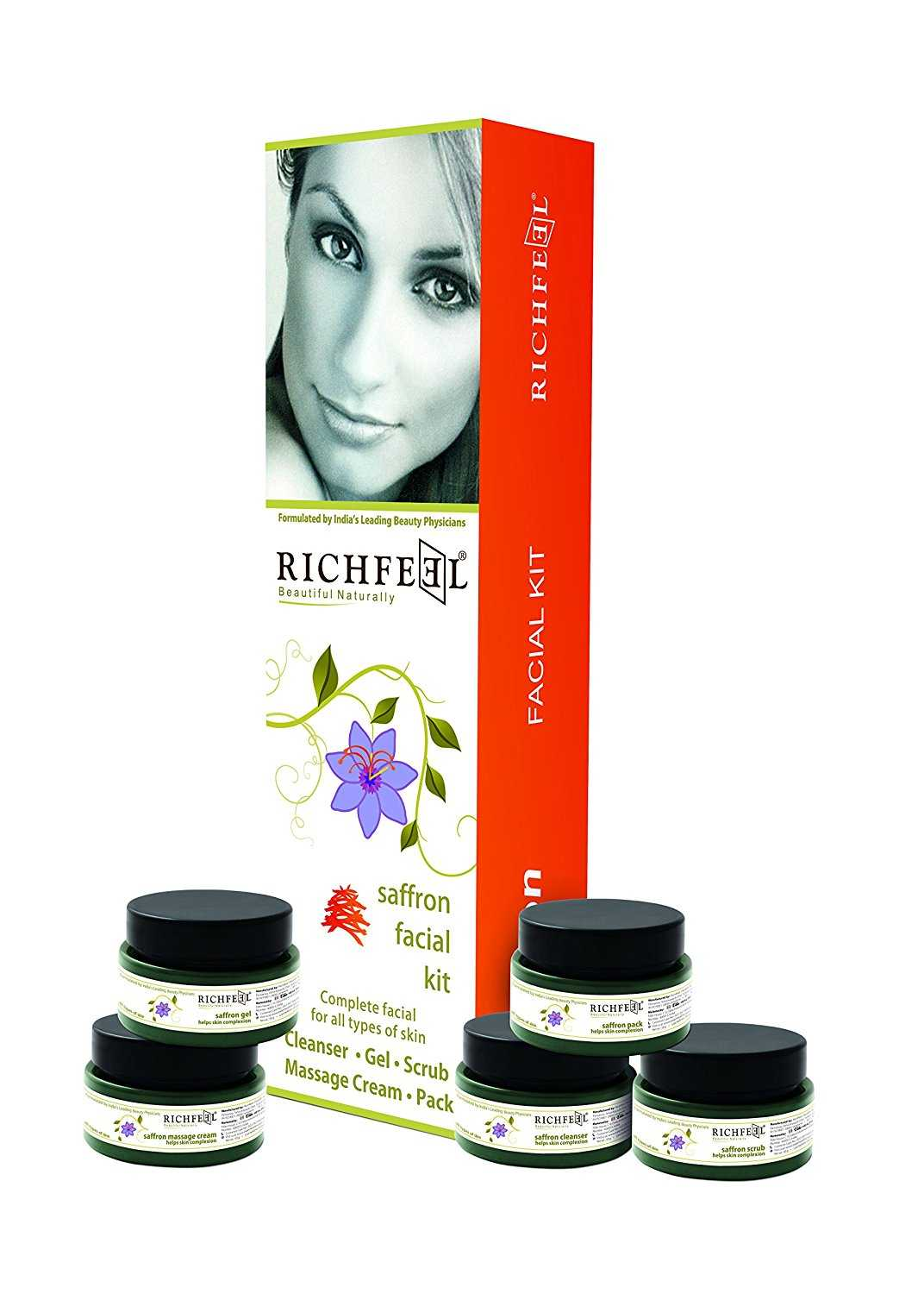 Buy Richfeel Saffron Facial Kit Online MY