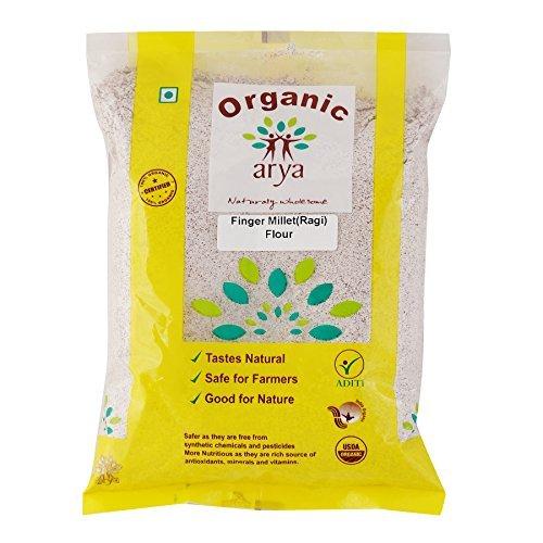 Buy Arya Farm Organic Finger(Ragi) Millet Flour Online MY