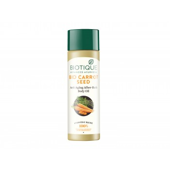 Buy Biotique Bio Carrot Seed Anti-Aging After Bath Body Oil Online MY