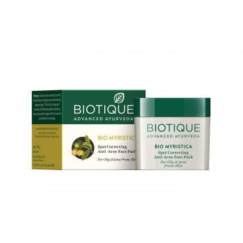 Buy Biotique Bio Myristica Spot Correcting Anti-Acne Face Pack Online MY