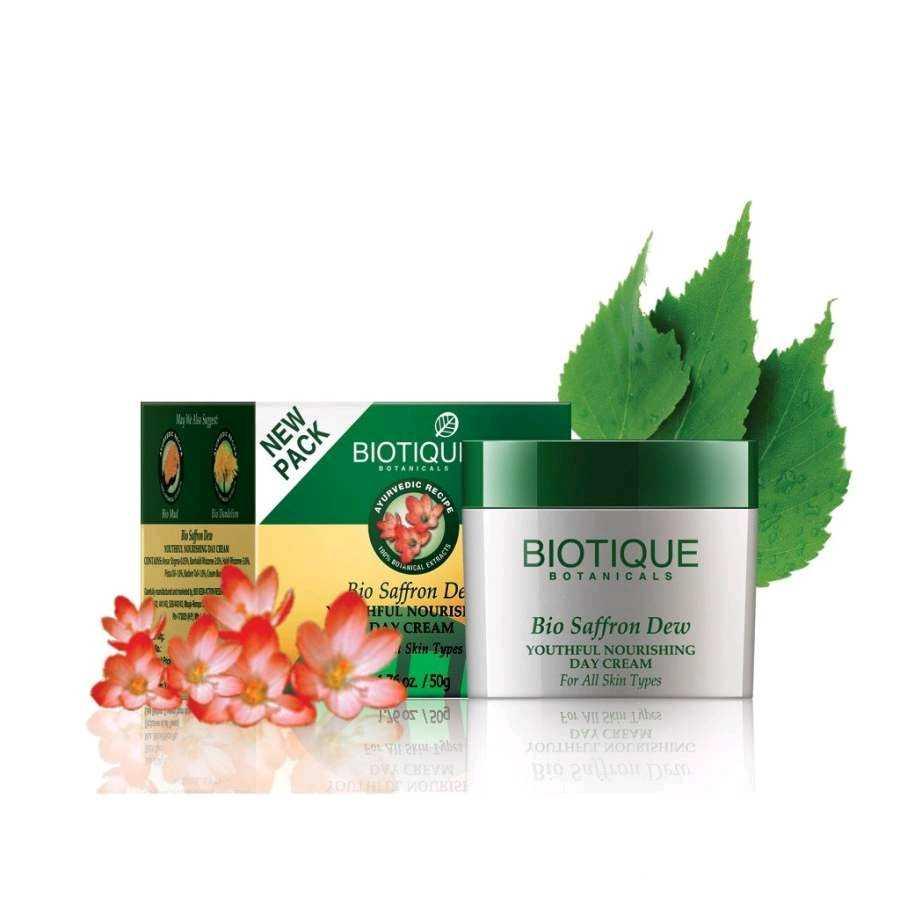 Buy Biotique Bio Saffron Dew Youthful Nourishing Day Cream For All Skin Types Online MY