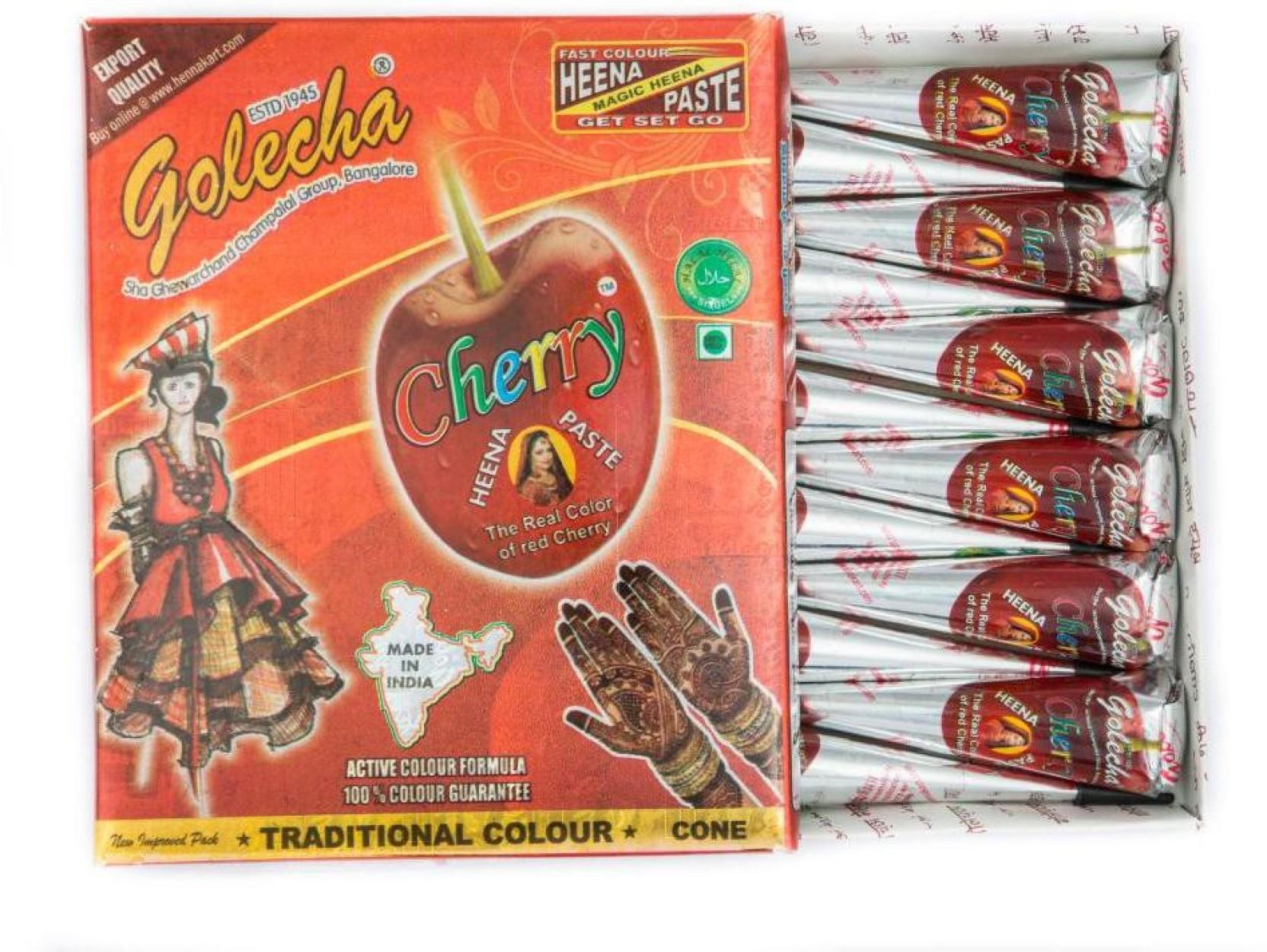 Buy Golecha Cherry Henna Cones Online MY