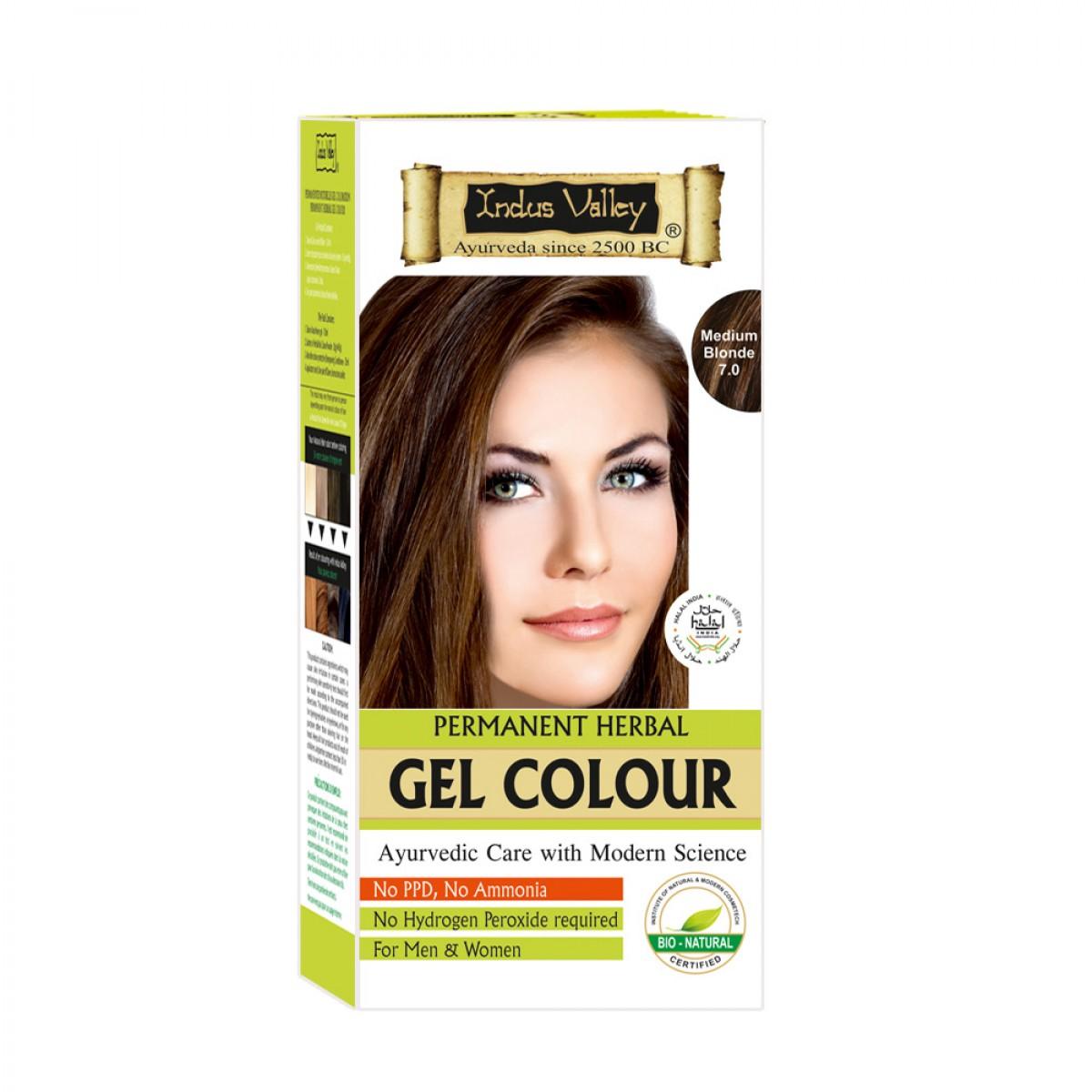 Indus Valley Parmanent Gel Herbal Medium Blonde Gentle Hair Color