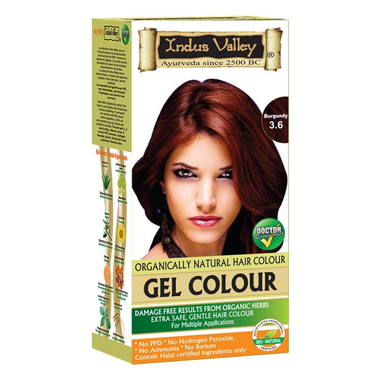 Indus Valley Permanent Gel Herbal Burgundy Extra Safe Gentle Hair