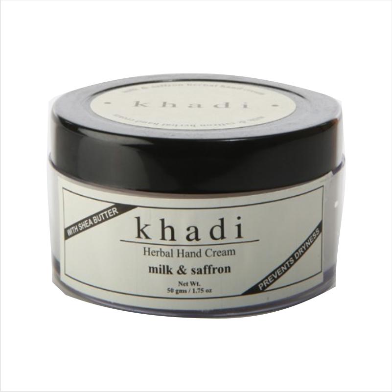 Buy Khadi Natural Hand Cream Milk & Saffron - With Sheabutter online Australia [ AU ]