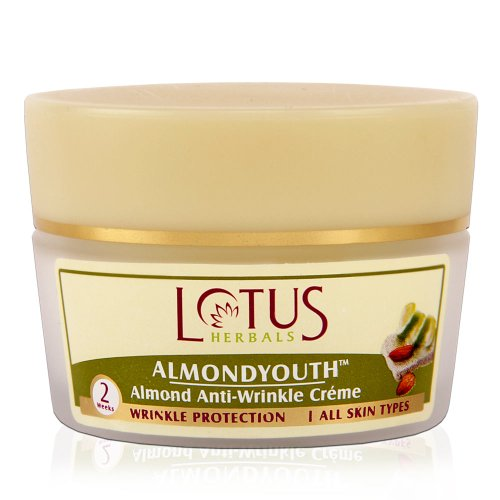 Buy Lotus Herbals ALMONDYOUTH Almond Anti-Wrinkle Creme online United States of America [ USA ]
