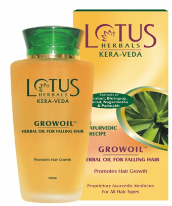 Buy Lotus Herbals Growoil Herbal Oil for falling hair online United States of America [ USA ]