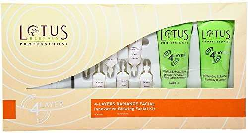 Buy Lotus Herbals Professional 4 Layers Radiance Facial Innovative Glowing Facial Kit online United States of America [ USA ]