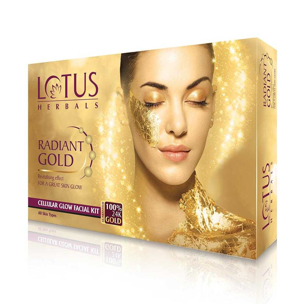 Buy Lotus Herbals Radiant Gold Cellular Glow Facial Kit online United States of America [ USA ]
