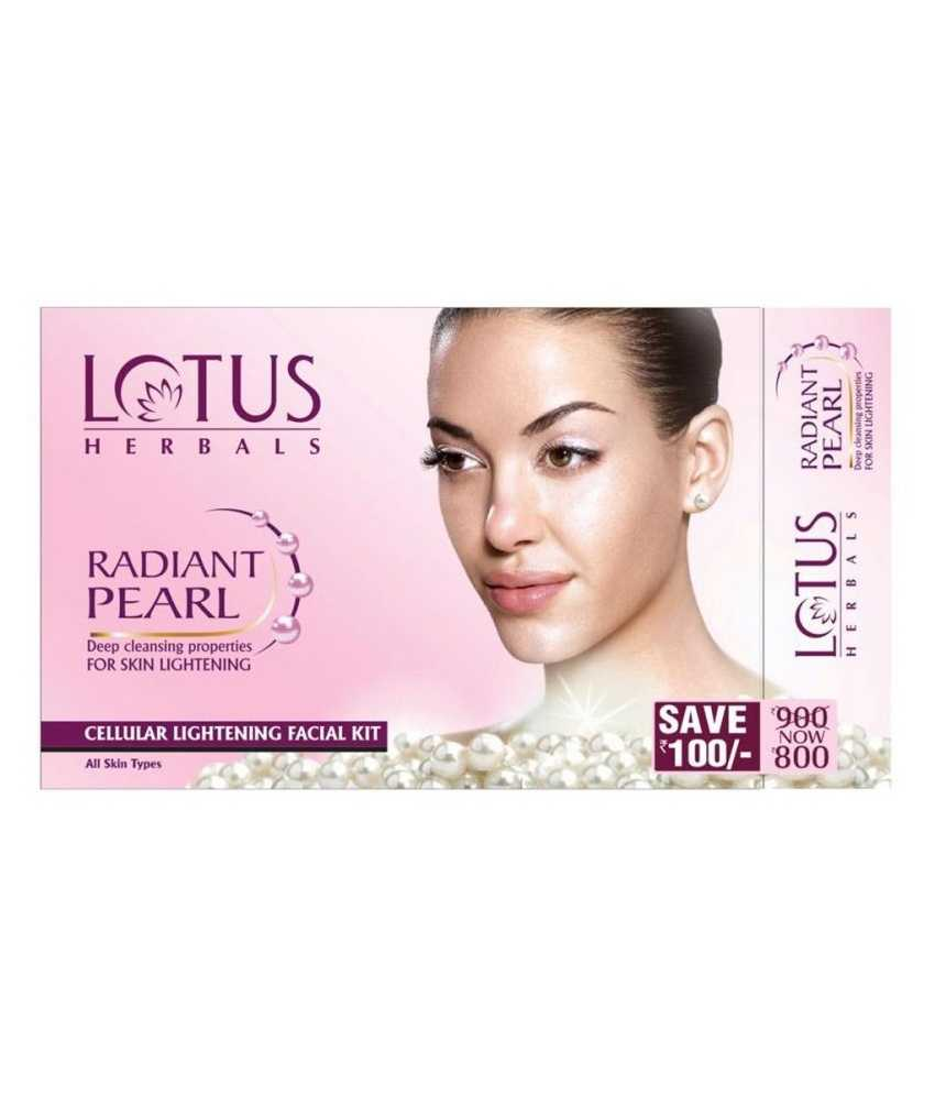 Buy Lotus Herbals Radiant Pearl Cellular Lightening Facial Kit online United States of America [ USA ]