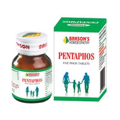 Buy Bakson Homoeopathy Pentaphos Tablets Pediatric Pack online United States of America [ USA ]