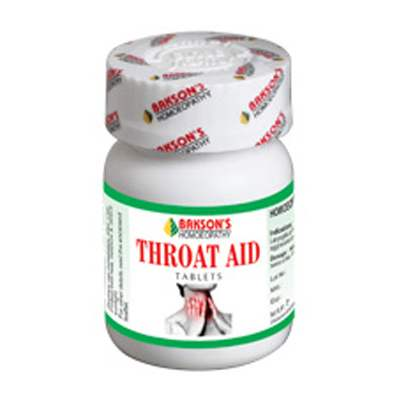 Buy Bakson Homoeopathy Throat Aid Tablet online United States of America [ USA ]