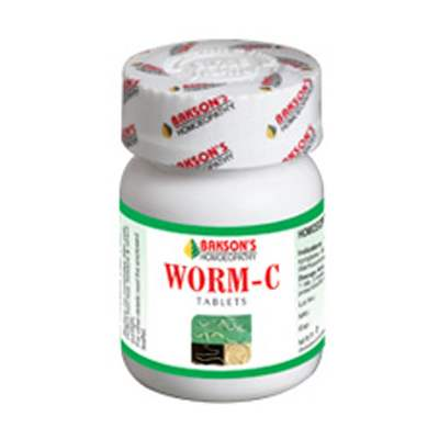 Buy Bakson Homoeopathy Worm C Tablet online United States of America [ USA ]