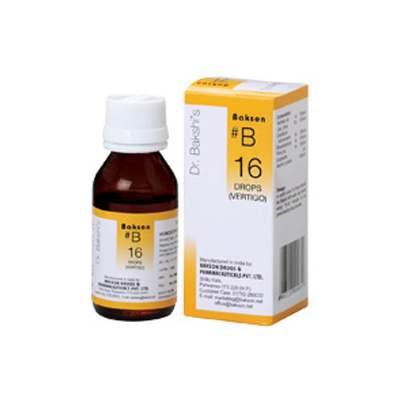 Buy Baksons B16 Vertigo Drops online United States of America [ USA ]
