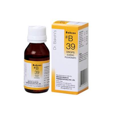 Buy Baksons B39 Cardio Pulmonary Drops online United States of America [ USA ]