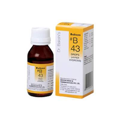 Buy Baksons B43 Hyper Hydrosis Drops online United States of America [ USA ]