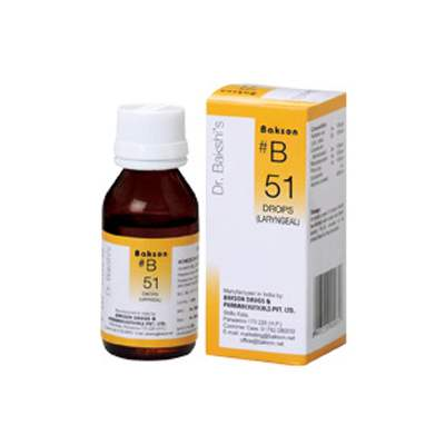 Buy Baksons B51 Laryngeal Drops online United States of America [ USA ]