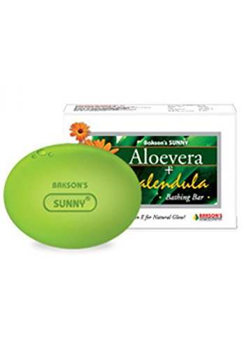 Buy Baksons Sunny Aloevera Calendula Bathing Bar online United States of America [ USA ]