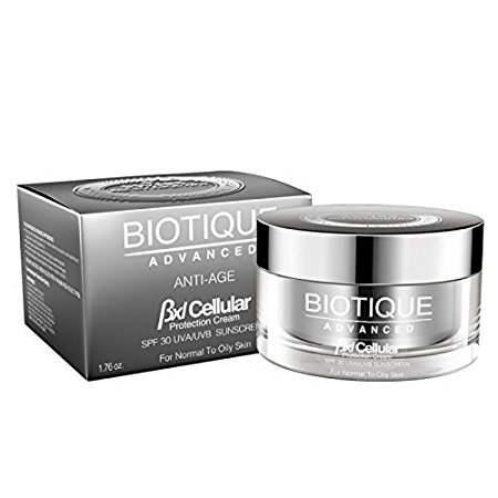 Buy Biotique Advanced BXL Cellular Anti Age Protection Cream SPF 30 UVA/UVB Sunscreen Online MY