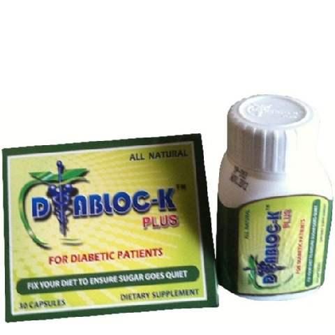Buy DIABLOC-K Plus Diabetic Natural Food Supplement Capsules Online USA