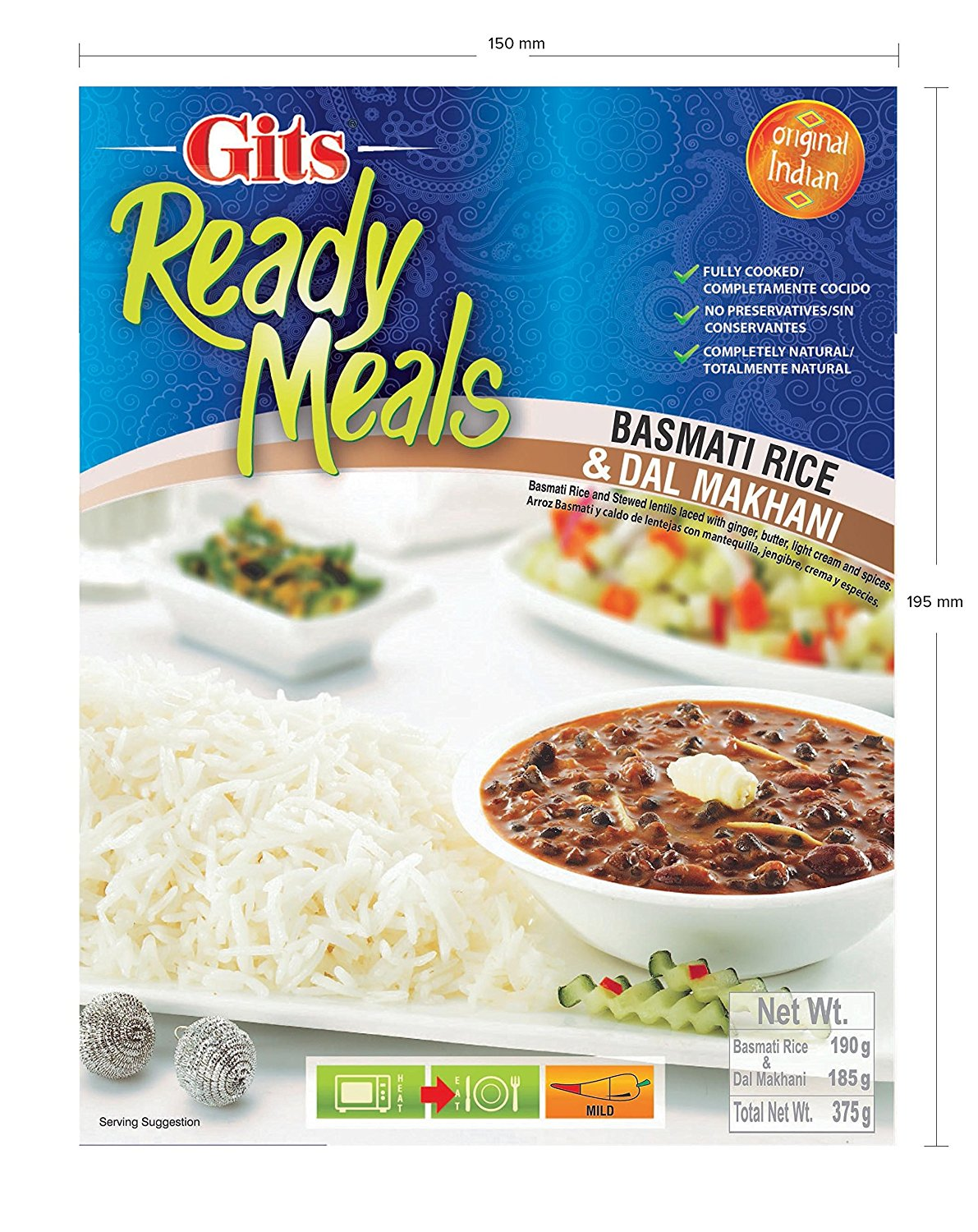Buy Gits Ready to Eat Basmati Rice and Dal Makhani Combo Meal Online MY