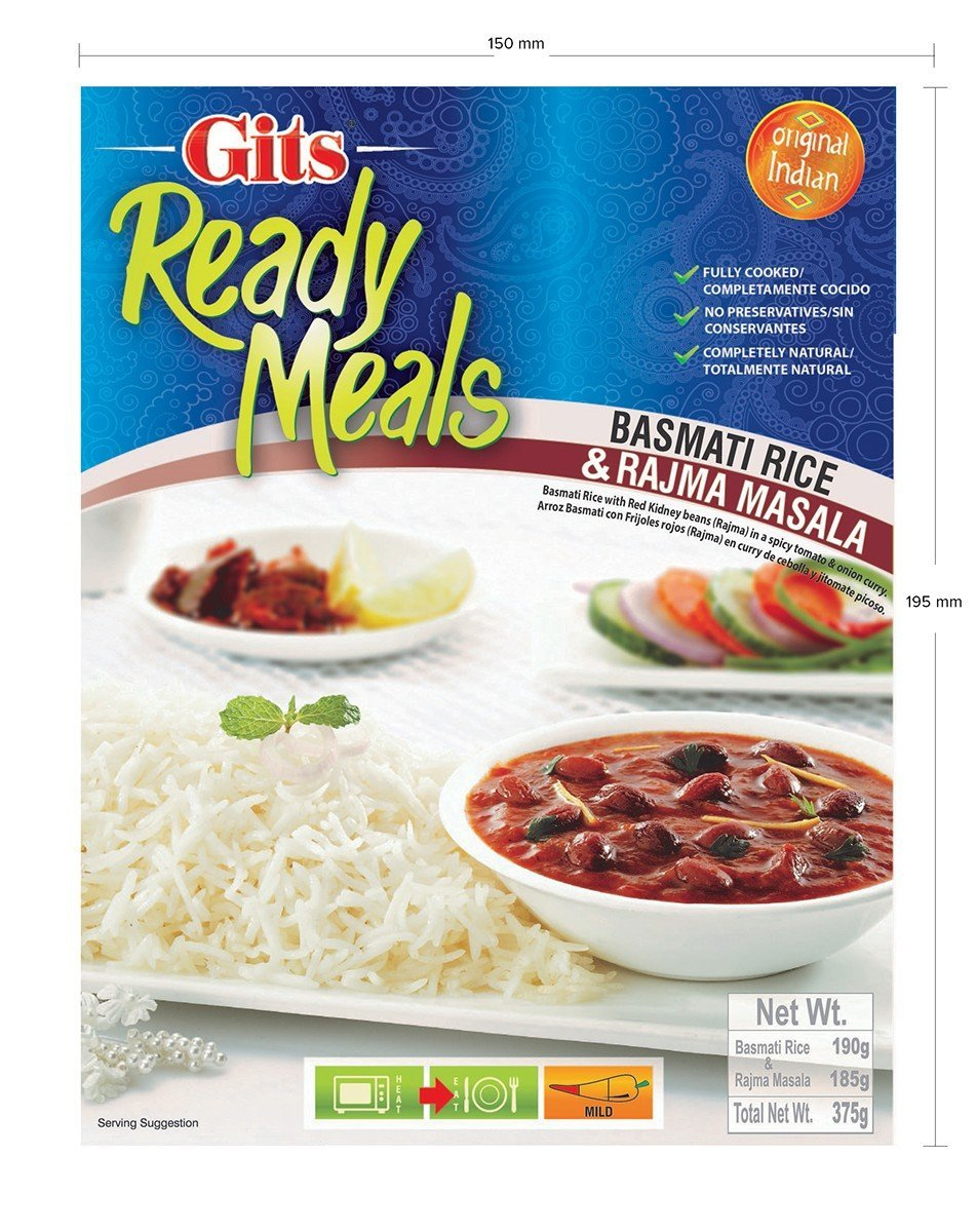 Acheter Gits Ready to Eat Basmati Rice & Rajma Masala - Combo Meal Online FR