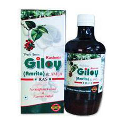 Buy Kashmir Herbal Fresh Green Giloy (Amrita) & Amla Ras Online MY