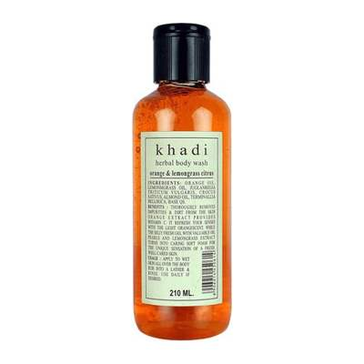 Buy Khadi Herbal Orange & Lemongrass Body Wash Online MY