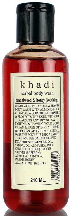 Buy Khadi Herbal Sandal & Honey Body Wash Online MY